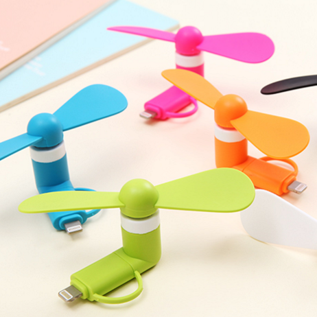 ebay best selling cheap mobile phone mini usb fan 2 in 1 portable phone fan for iphone samsung