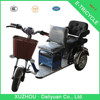 assisted pedal tricycle with electric tricycle for garbage