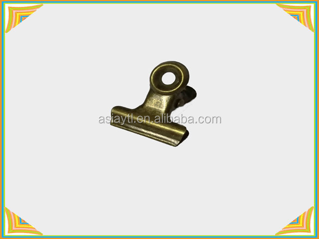 hot selling 22mm small strong metal clip with one flat side