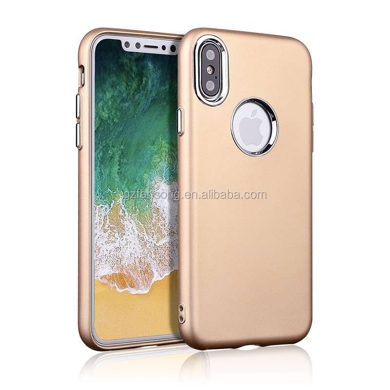 For Iphone 8 Case,Electroplated Key Soft Painting Metallic Silcone TPU Cover Case For Iphone 8