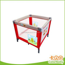 Customized design unique metal frame baby travel crib cot bed