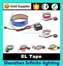 1M Neon Glowing Strobing Electroluminescent Robbin El Tape Belt, Blue