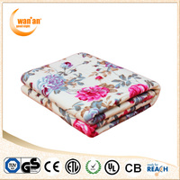 Custom printed nonwoven electric heated blanket with best price