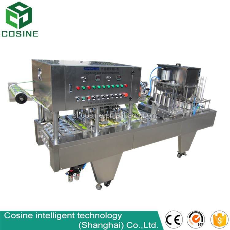 Fruit juice filling sealing machine/soy milk filling machine/cup sealing machine