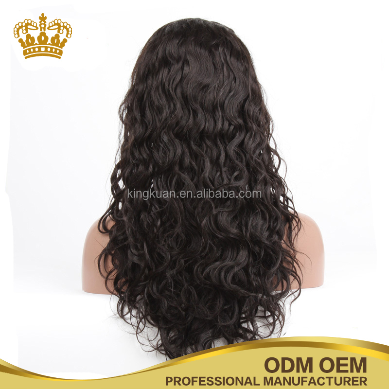 2017 top quality curly human hair full lace wigs