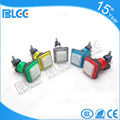 Factory price Square Illuminated 12v led push button light switches