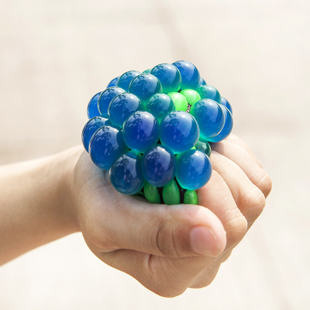 Bead Stress Ball Vent Grape Ball Mesh Squishy Ball