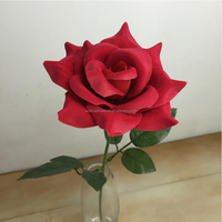 Latest product artificial red velvet rose flower for sale