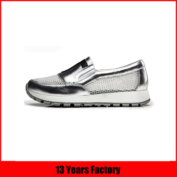 Silver and pink decorative screen cloth rubber best casual shoes
