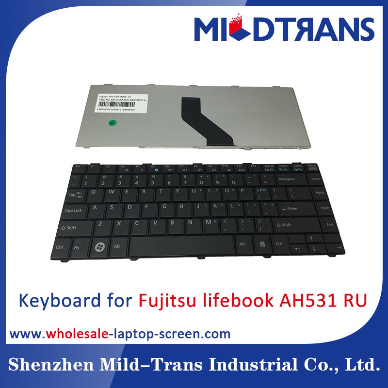 Laptop Keyboard replacement for Fujitsu lifebook AH531 RU russian layout Black