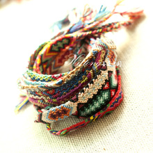 Fashion Vintage Style Nepal colorful hand-woven Bracelet Cotton Knitted Unisex Friendship Bracelets for women