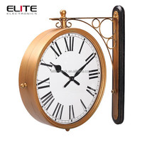 hot chinese products antique digital station double sided clock