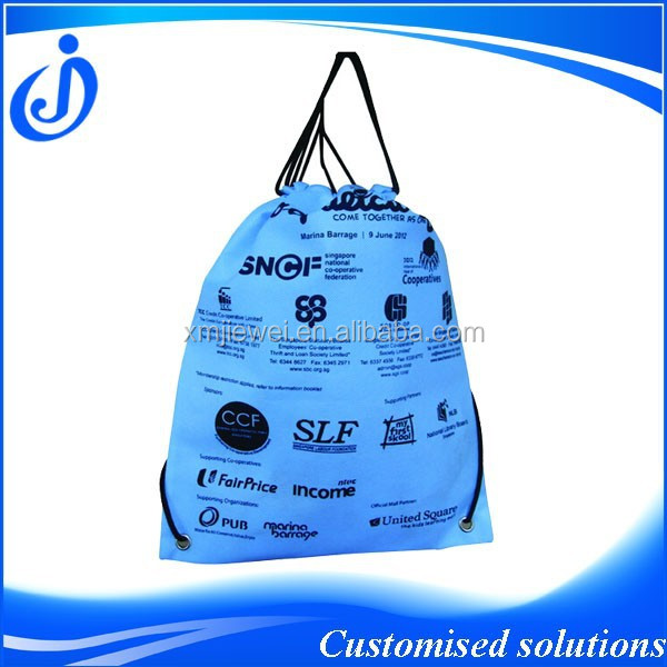 Promotional Cheap Custom Printed Drawstring Shoe Bags