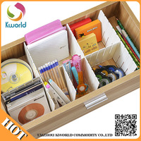 Trade assurance ECO-friendly 4pcs drawer multi partition /convenient drawer patition divider storage drawers