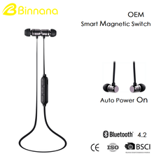 Cheap Wholesale Custom OEM 4.2 Magnet Magnetic earbud Sports In-ear Stereo Wireless Bluetooth Headphone earphone