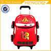 Boy's red car school trolley bag, direct manufacturer OEM brand school bags with cheap price