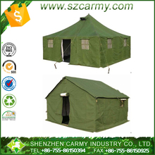 Factory provided directly big size over size canvas galvanized steel aluminum frame PVC coated camping military emergency tents