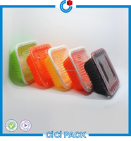 PP Foam Disposable take away fast food container / plastic bento tray