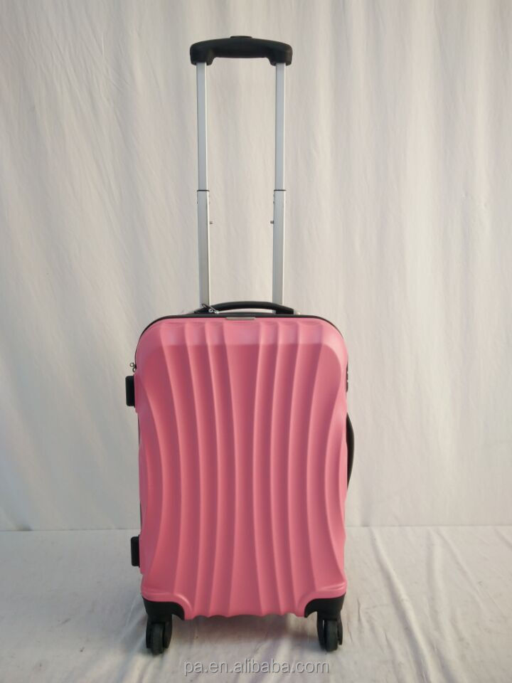 fashion PET material travel trolley luggage bag