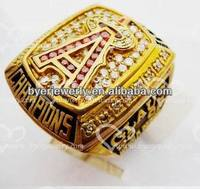 Hand made antique deep engraved champions rings