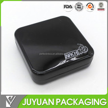 Square Fancy small metal tin box for condom tin box, tin condom storage box for one or two piece packaging
