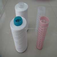 Hot sale 40/2 plastic cone 100% polyester spun yarn for sewing thread
