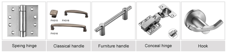 Furniture fitting kitchen cabinet stainless steel handles