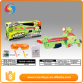 Promotional creative funny plastic green children BO gun toy set