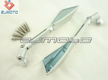 Motorcycle CNC Aluminum Handle bar Side Rear View Mirror for motorcycles with screw hole diameter 8mm or 10mm