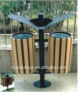 2017 Specialty Outdoor Park Wooden Trash Can