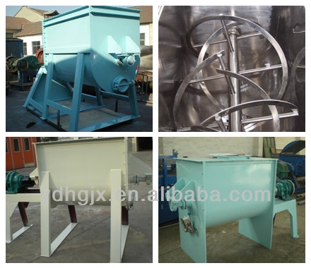 feed mixer used/wall putty ribbon blender mixer/double shaft paddle mixer