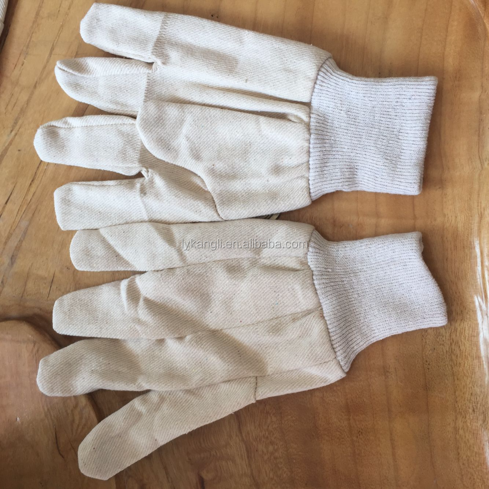 8 oz white cotton canvas gloves
