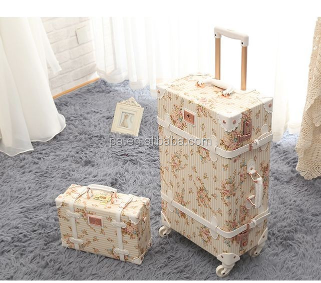 Wholesale Classic Vintage Luggage with Spinner Wheels