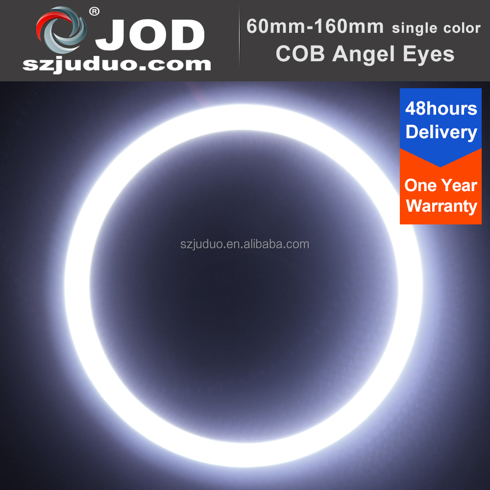 7000K Xenon White COB-Type High Power LED Halo Rings For Headlights Demon/Angel Eyes Retrofit DIY