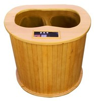 Japanese Heated warmer Foot Therapy Wooden Heat Far Infrared Foot Spa (CE/RoSH/ISO)