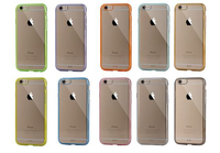 New Shock Scratch Resistant Clear TPU PC Bumper Cases For Apple iPhone 6 Case 6s 4.7 Inch,New Hybrid Bumper