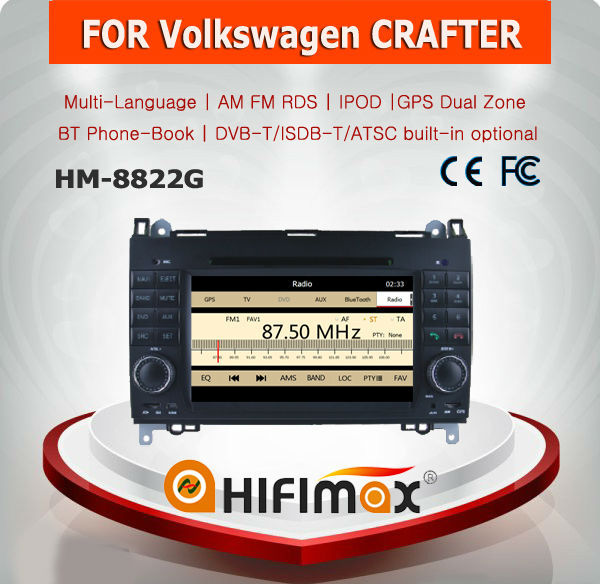HIFIMAX WIN CE 6.0 touch screen car stereo for VW crafter car radio
