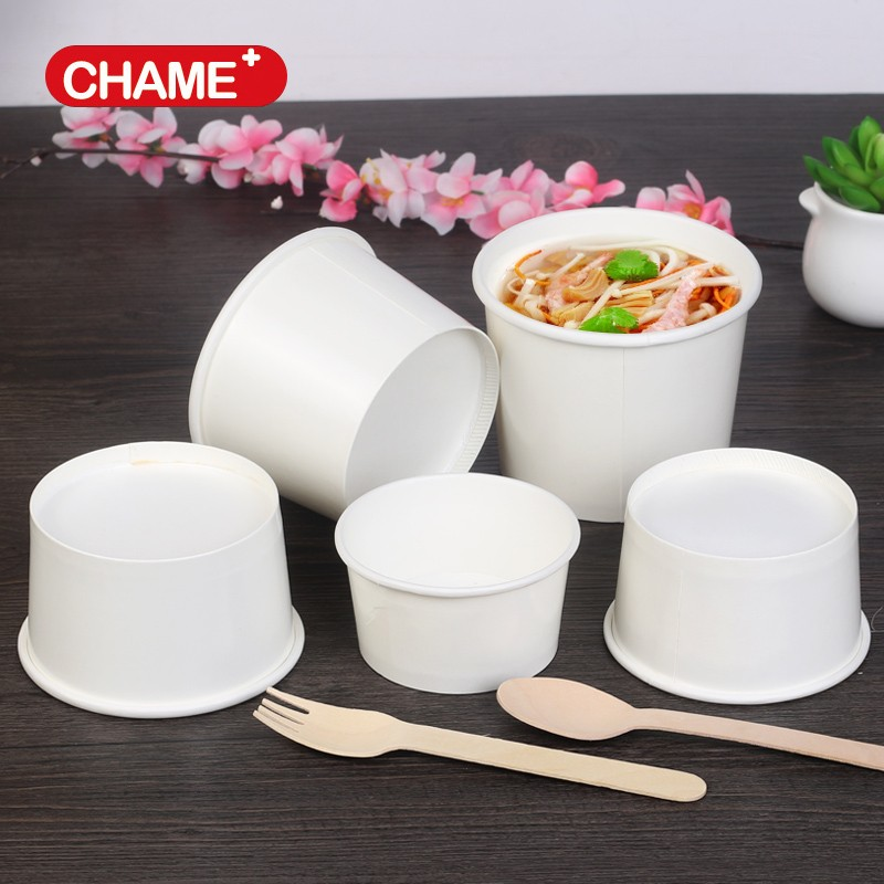 China Supplier Disposable Paper Soup Cup and Hot Kraft Soup Cup