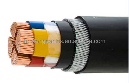 With TUV test report CE certificate 240mm xlpe 4 core armoured electrical cable