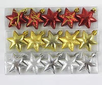 Gold/red/silver christmas decoration ball and star 2017 for christmas tree made in china