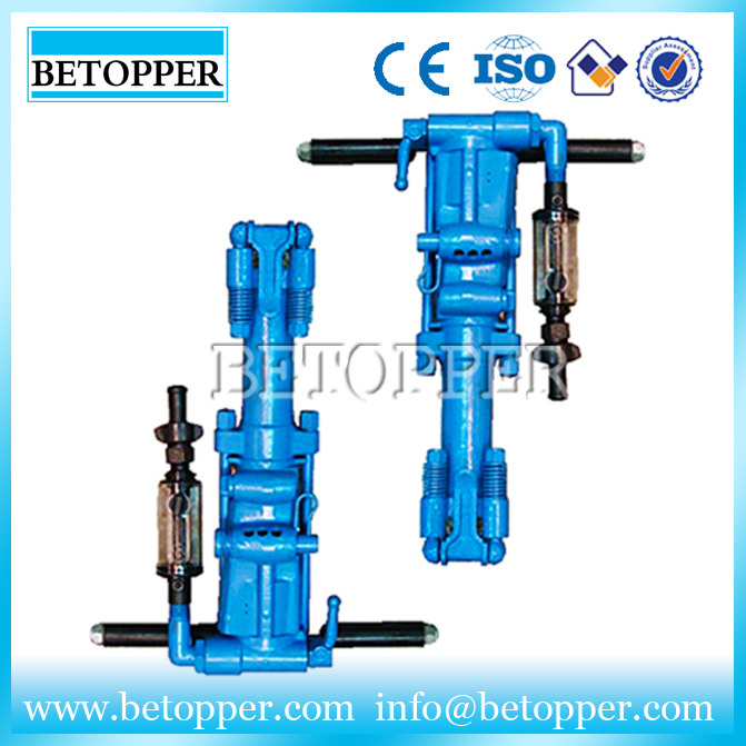 Handheld pneumatic rock mining drilling machine