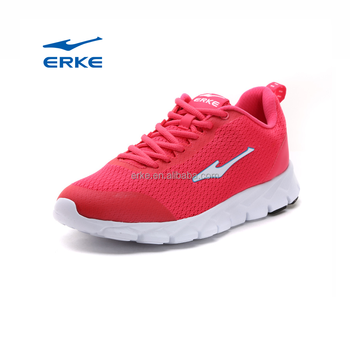 2017 breathable mesh summer black grey ERKE brand wholesale dropshipping running shoes for women