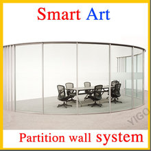partition room /frameless glass wall system