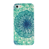 Crystal Clear Floral Silicone Soft TPU Case Skin Cover Back Green For iPhone 5C,White for 5S phone protector