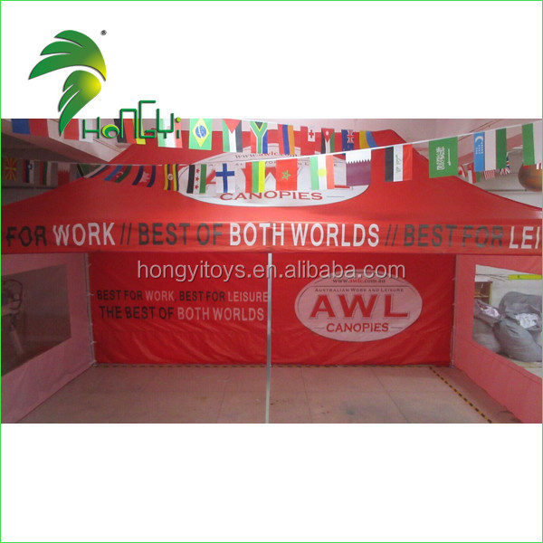 10ft*20ft Red Folding Gazebo Tent / Outdoor Advertising Canopy For Trade Show