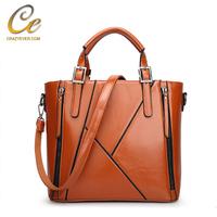 Women top handle handbags leather ladies hand bags