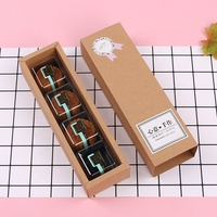 Drawer Kraft Paper Cookie Box Macaron Dessert Packaging Candy Snacks Eco-friendly Packing Boxes for Cake