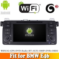 Aosino Android 5.1 car dvd radio gps fit for BMW E46 1998-2006 WITH CHIPSET WIFI 3G INTERNET DVR OBD2 SUPPORT