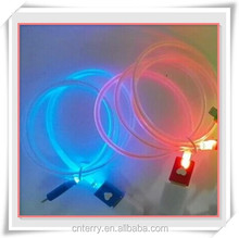 micro USB cable charge & synchro full LED light cable