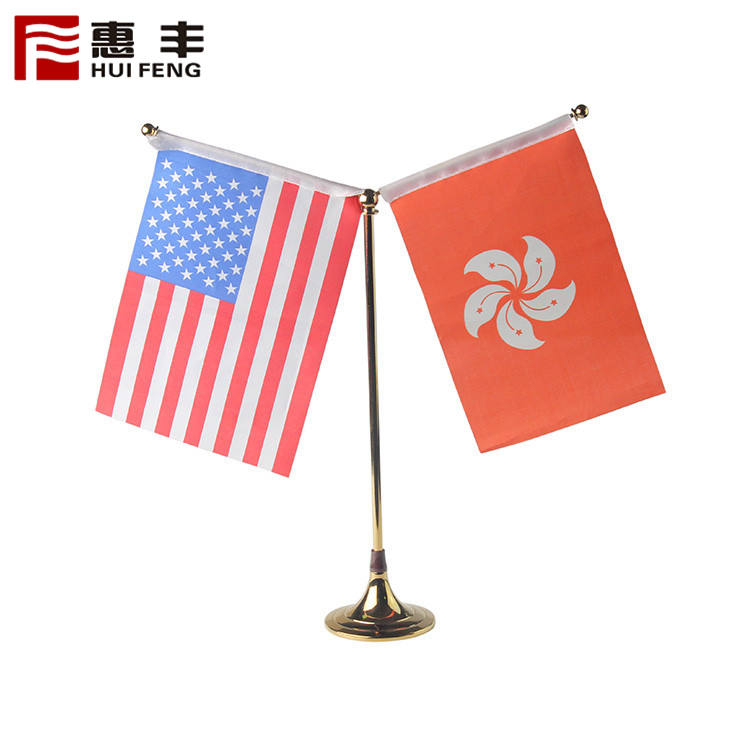 Telescope Metal Stand Table Flag